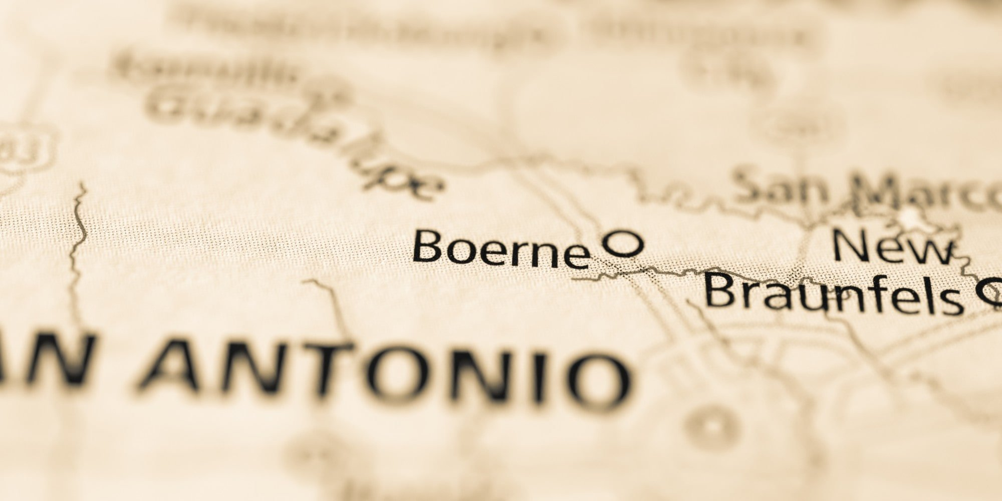 map of boerne, tx - just outside San Antonio