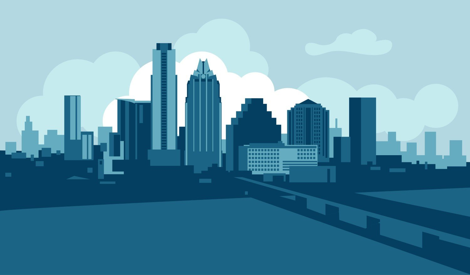 Austin Texas City Skyline