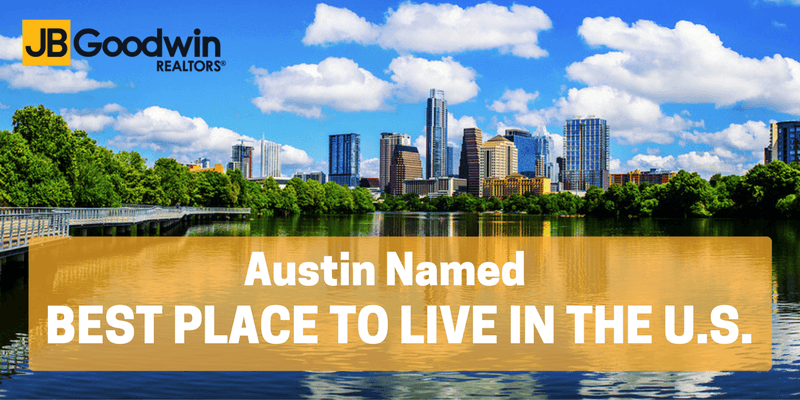 Austin Named 2017 Best Place To Live