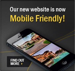Cell phone browsing home listings | Click to learn more about our new mobile friendly website