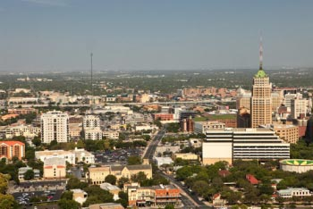Aerial view of San Antonio Real Estate