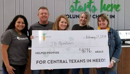 JB Goodwin Gives Back with Food Bank Austin