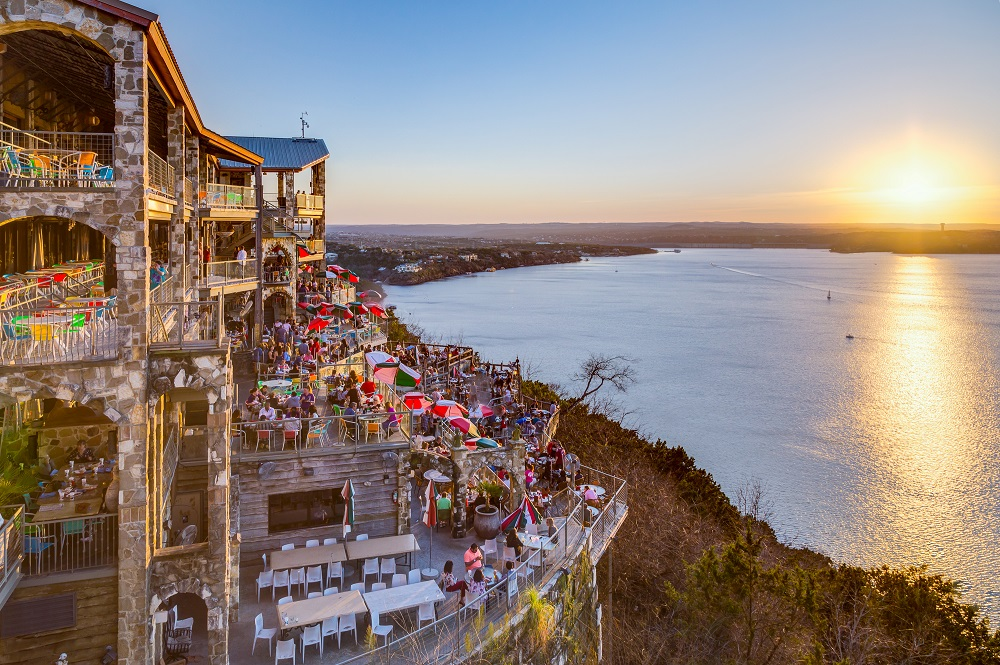The Oasis Restaurant That Sits Famously On Austin S Waterfront Is An Elished Go To Place