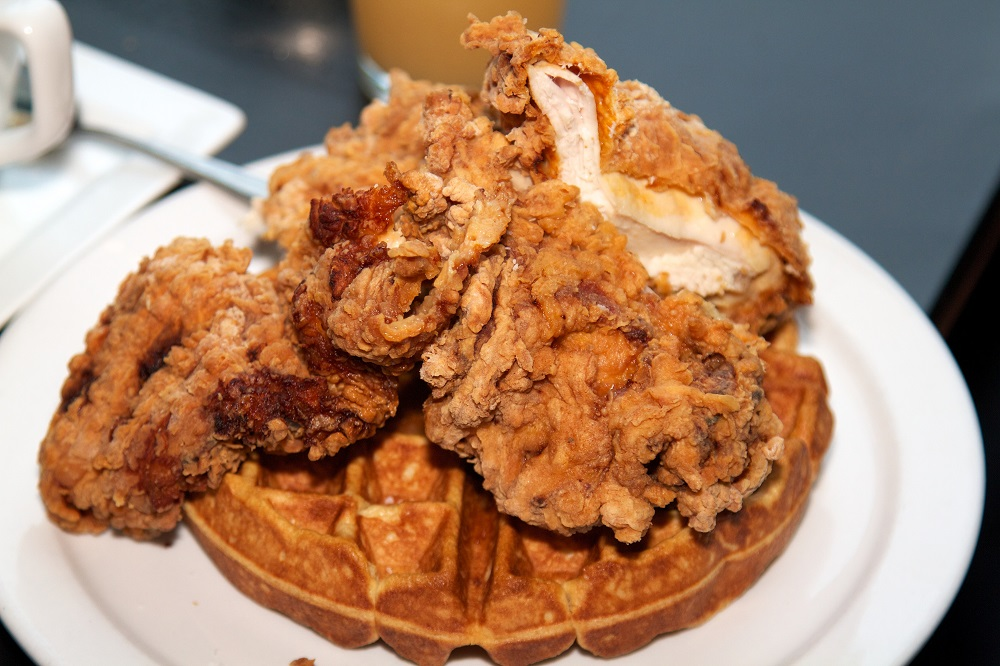 Delicious chicken and waffles are a surprising delight from Austin's food scene