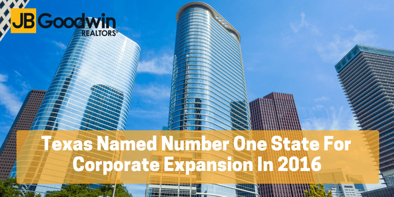 Texas Names Number One State For Corporate Expansion In 2016